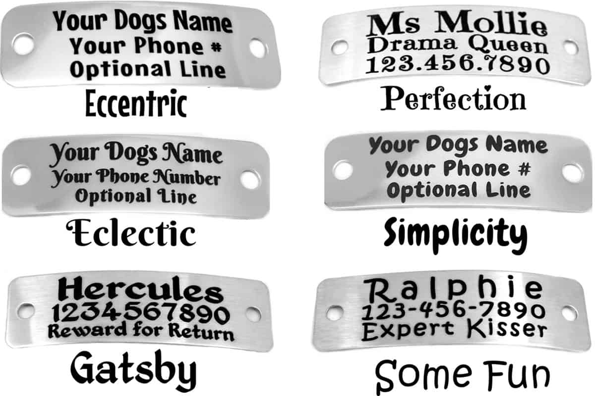 Safety Dog Collar fonts