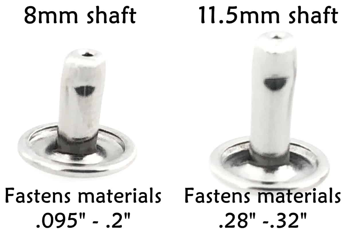 Stainless Steel Rivets sizes