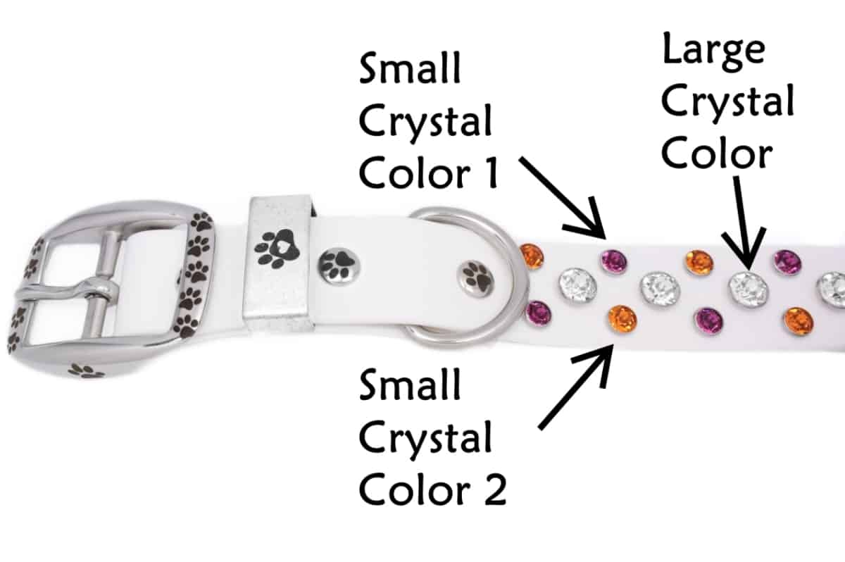 Design Your Own Dog Collar crystals